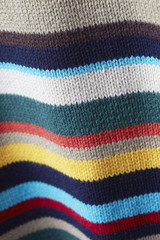 Close up of striped woolen sweater