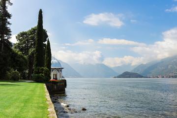View of Lake Como from Gardens of Villa Melzi