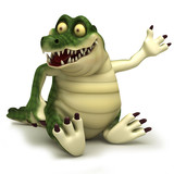 Sitting croc poster