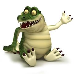 Sitting croc