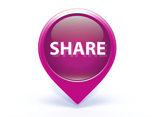 share pointer icon on white background
