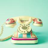 Vintage hand-painted telephone