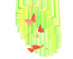 Vlinders in fantasie omgeving