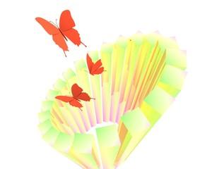 Rode vlinders uit cilinder
