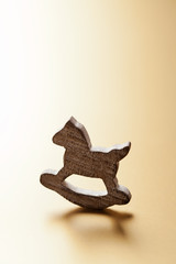 Christmas decoration with wooden rocking horse