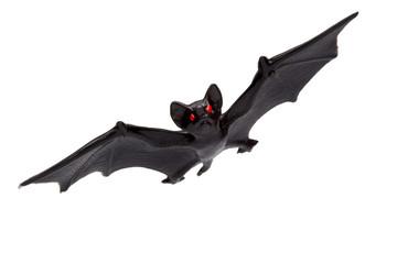 Halloween - Toy Bat - Isolated on White Background