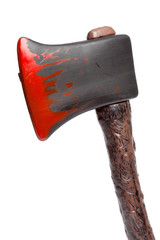 Halloween - Plastic Ax with Blood - Isolated on White