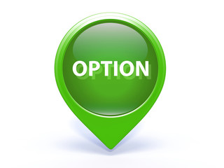option pointer icon on white background