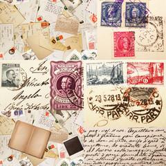 posta vintage collage