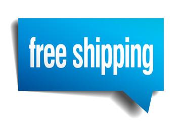 free shipping blue 3d realistic paper speech bubble