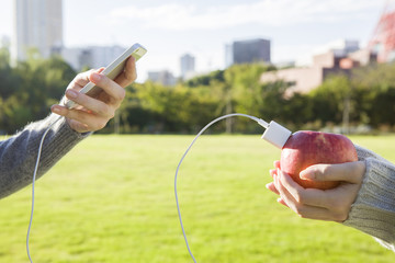 Woman to be charged from the apple mobile phone