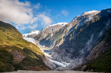 Glacier on the South Island of New Zealand.