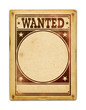 Wanted poster isolated on white - 71993382