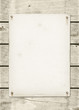 canvas print picture - Blank vintage poster nailed on a white wood board