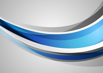 Blue and grey corporate waves background