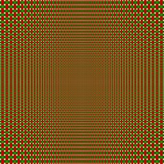 Abstract red and green knitted centered background