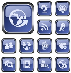 Social network button set