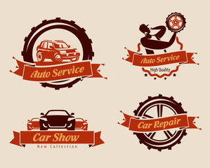 Auto service icons. Vector format