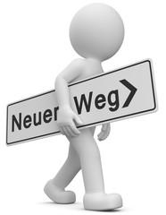 Fotomek Männchen neuer Weg