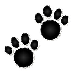 animal pattern of paw footprint.