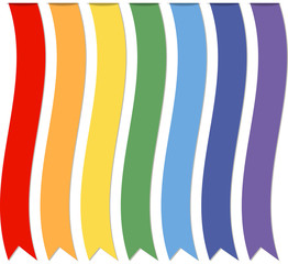 Set of ribbons, vector illustration.