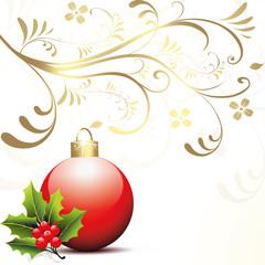 Weihnachtsdeko,kugel,christbaumkugel,floral,mistel,3d