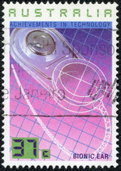 stamp illustrating Australian Achievements in Technology