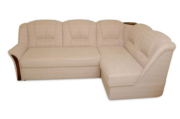 sofa on white
