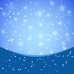 Winter xmas vector background with place for text