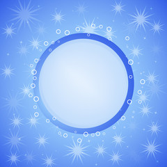 Winter vector background with place for text