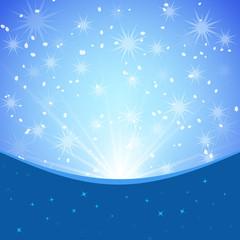 Winter blue xmas vector background