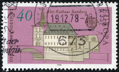 stamp printed in the Germany shows Old City Hall, Bamberg