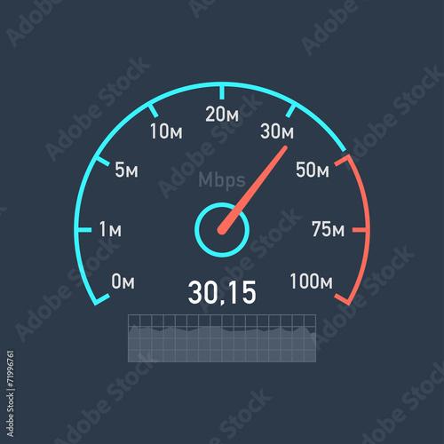 Speedometer speed Internet traffic - 71996761