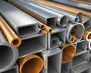 Round and square Tube and pipe made of steel and copper