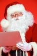 Leinwanddruck Bild - laptop santa