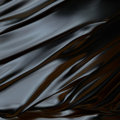 Black abstract background  cloth or  silk texture