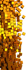 Gold cubes. Clipping path added.
