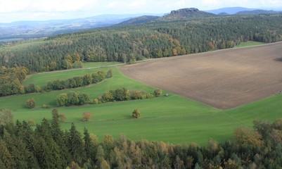 Blick vom Pfaffenstein in der Sächs. Schweiz