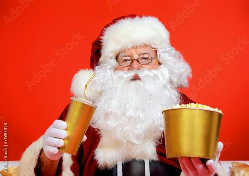 Leinwanddruck Bild santa relaxing