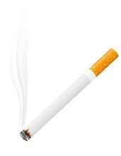 Palenie papierosów ilustracji wektorowych