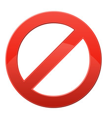 prohibitory sign vector illustration