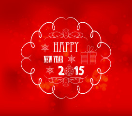 happy new year light vector background