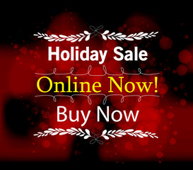 holiday save online light vector background