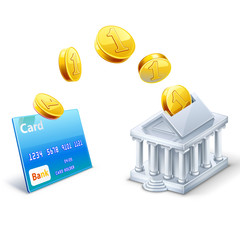 Money transfer between card and bank