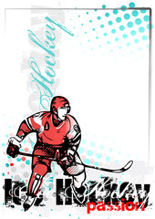 ice hockey vector poster background