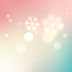 Soft blurred winter background