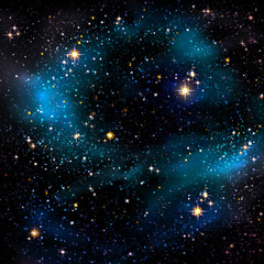 Night sky and stars.