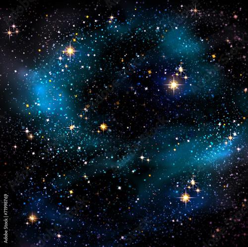 Night sky and stars. - 71998769