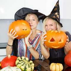 Funny mothers at halloween