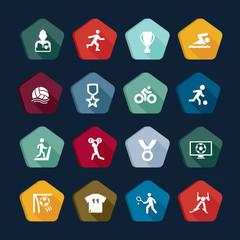 Symbols sport - Vectors set 5